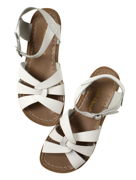 saltwater sandals original adult white - little pearls by shoe chou