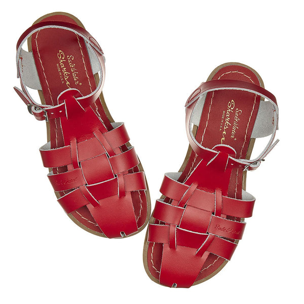 saltwater sandals original shark adult red - little pearls by shoe chou