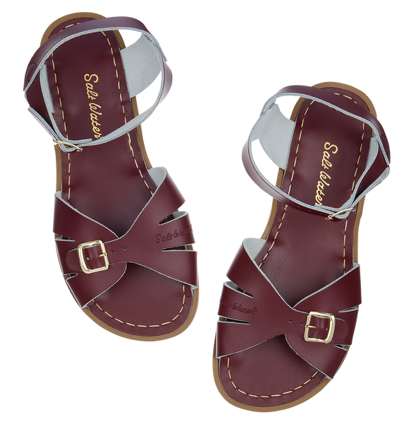 saltwater sandals classic adult claret - little pearls by shoe chou