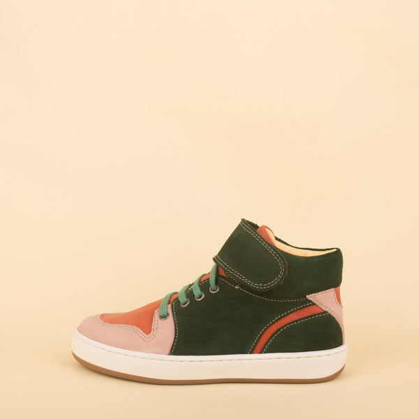 dulis high sneaker green/pink