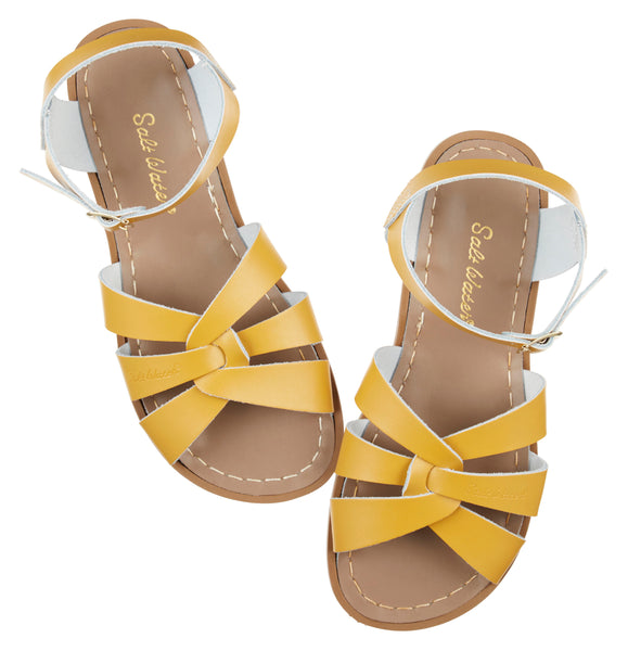 saltwater sandals original child mustard - little pearls by shoe chou