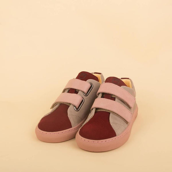 dulis sneaker bordeux/grey/rose