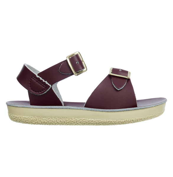 saltwater sandals surfer claret - little pearls by shoe chou