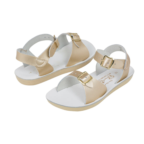 saltwater sandals surfer gold - little pearls by shoe chou