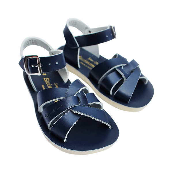 saltwater sandals swimmer navy - little pearls by shoe chou