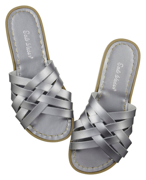 saltwater sandals retro slide adult pewter - little pearls by shoe chou
