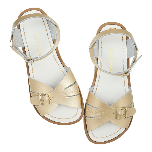 saltwater sandals classic adult gold - little pearls by shoe chou