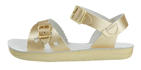 saltwater sandals sweetheart gold - little pearls by shoe chou