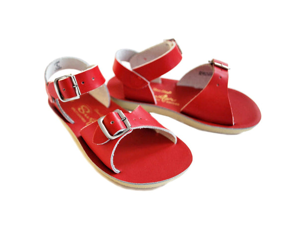 saltwater sandals surfer red - little pearls by shoe chou