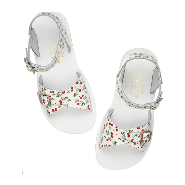 saltwater sandals sweetheart cherry - little pearls by shoe chou