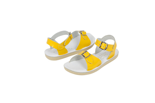 saltwater sandals surfer shiny yellow - little pearls by shoe chou
