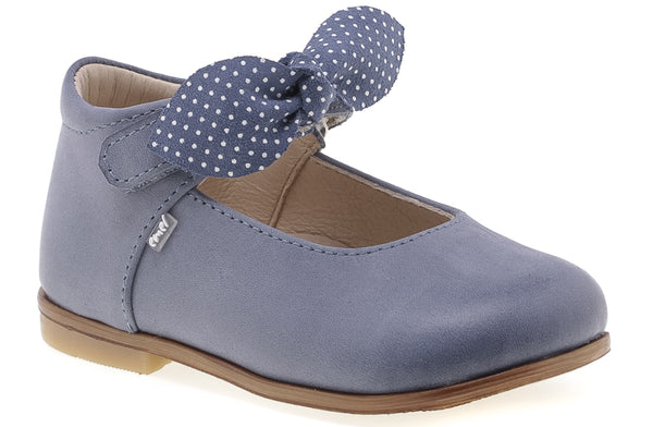 emel beginner ballerine blue dots - little pearls by shoe chou