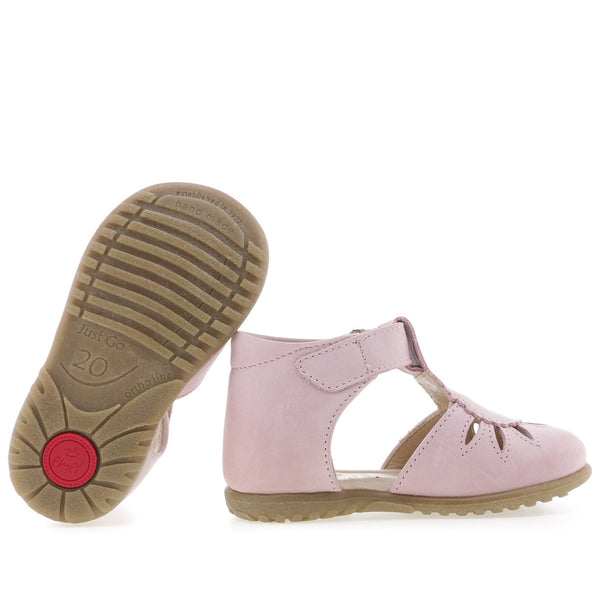 emel beginner sandal light rose - little pearls by shoe chou