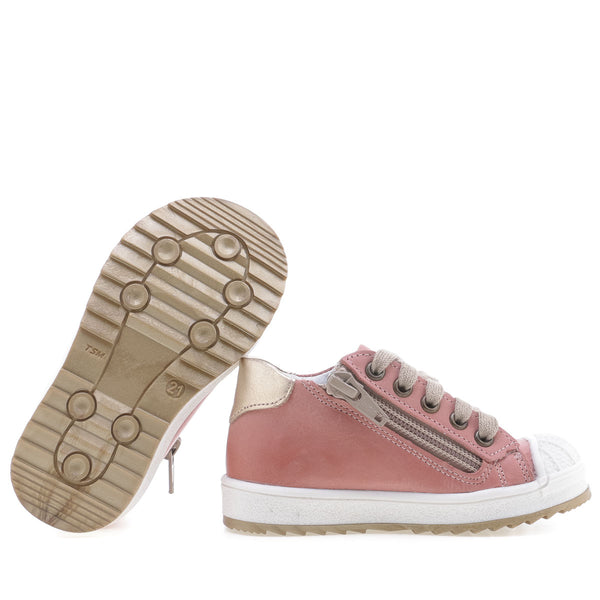 emel sneaker pink/gold - little pearls by shoe chou