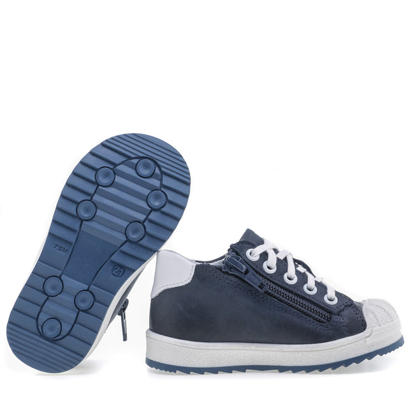 emel sneaker blue/white - little pearls by shoe chou