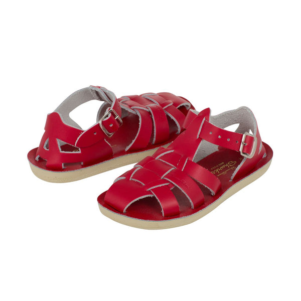 saltwater sandals shark red - little pearls by shoe chou