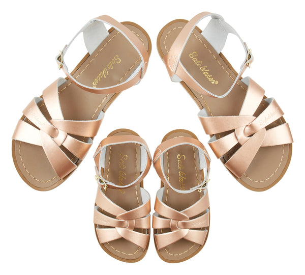 saltwater sandals original adult rose gold - little pearls by shoe chou