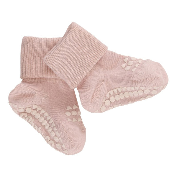 go baby go bamboo non slip socks pale pink - little pearls by shoe chou
