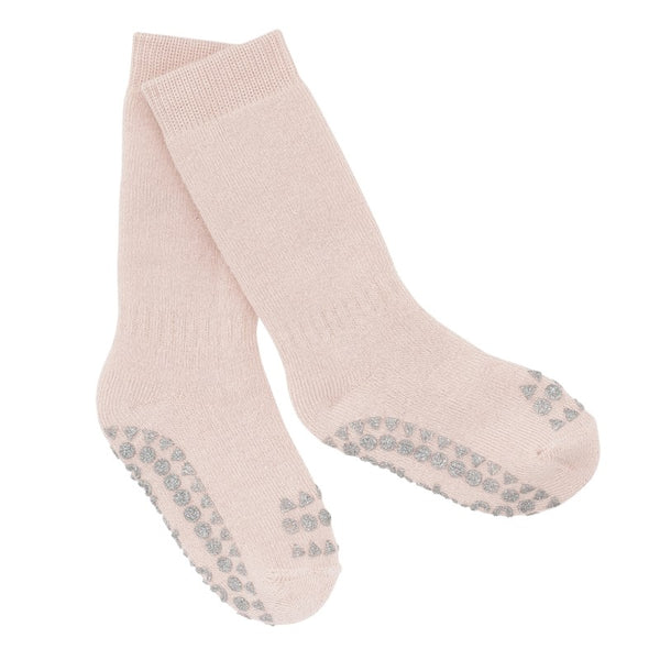 go baby go non slip socks pale pink - little pearls by shoe chou