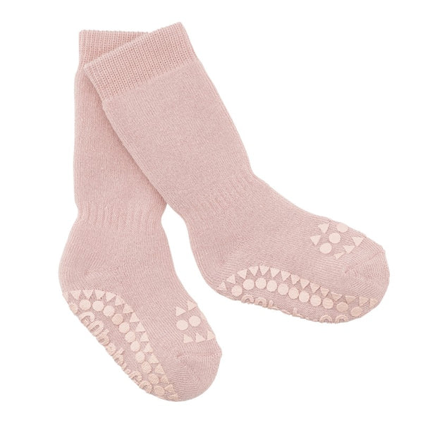 go baby go non slip socks rose - little pearls by shoe chou