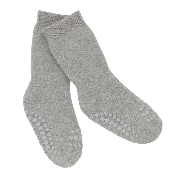 go baby go non slip socks grey - little pearls by shoe chou