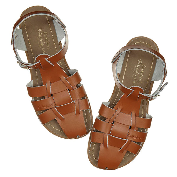 saltwater sandals original shark youth tan - little pearls by shoe chou