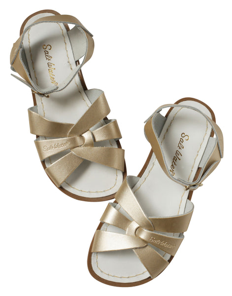 saltwater sandals original adult gold - little pearls by shoe chou