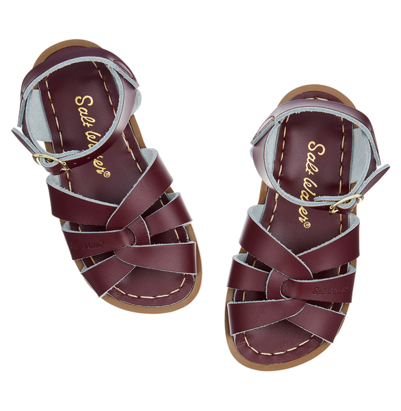 saltwater sandals original child claret - little pearls by shoe chou