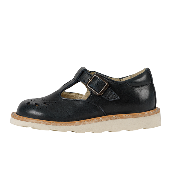 young soles kids rosie t-bar navy - little pearls by shoe chou