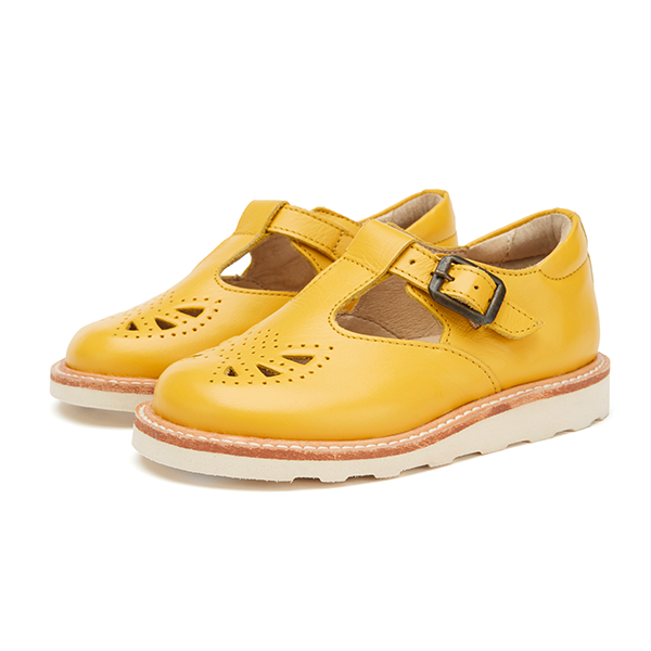 young soles rosie t-bar yellow - little pearls by shoe chou