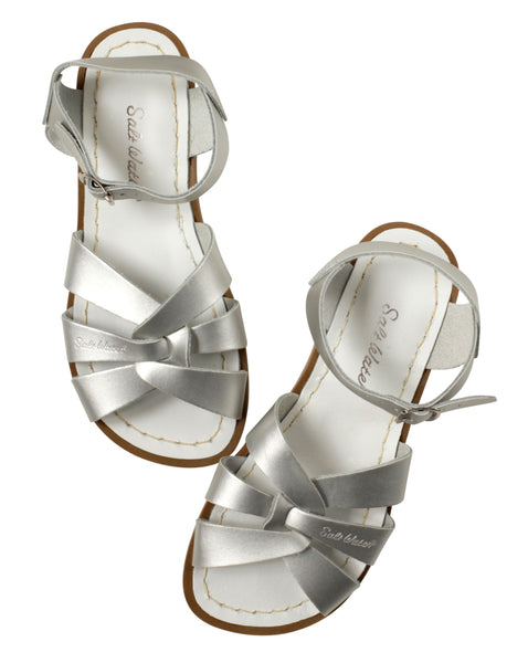 saltwater sandals original child silver - little pearls by shoe chou