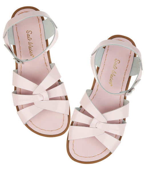 saltwater sandals original adult shiny pink - little pearls by shoe chou