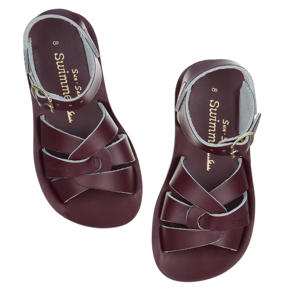 saltwater sandals swimmer claret - little pearls by shoe chou