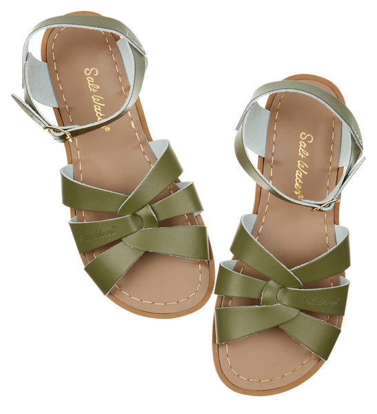 saltwater sandals original adult olive - little pearls by shoe chou