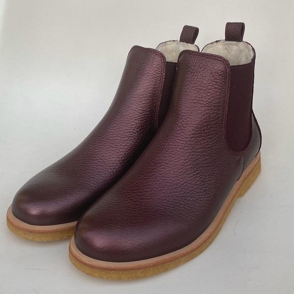 angulus winter chelsea boot bordeaux shine