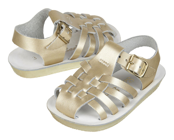 saltwater sandals sailor gold - little pearls by shoe chou