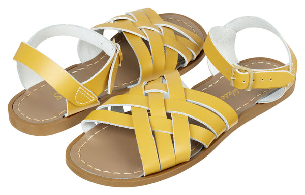 saltwater sandals retro adult mustard - little pearls by shoe chou