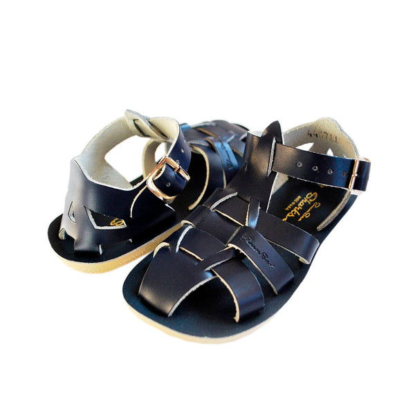 saltwater sandals shark navy - little pearls by shoe chou