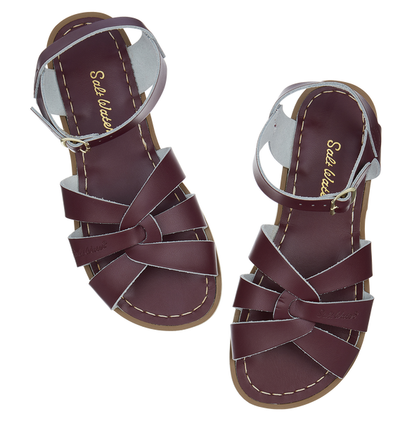 saltwater sandals original adult claret - little pearls by shoe chou