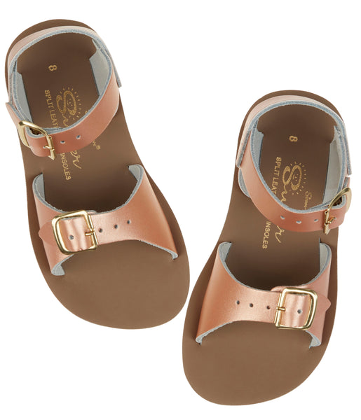 saltwater sandals surfer rose gold - little pearls by shoe chou