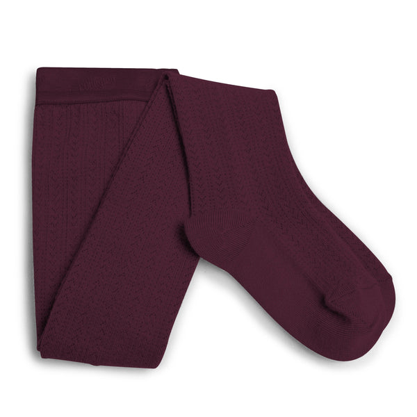 collégien tights angélique merino wool framboise