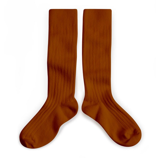 collégien socks brown pain d'epice little pearls