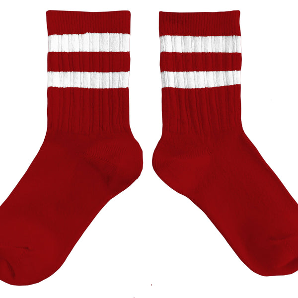collégien tennis socks rouge carmin