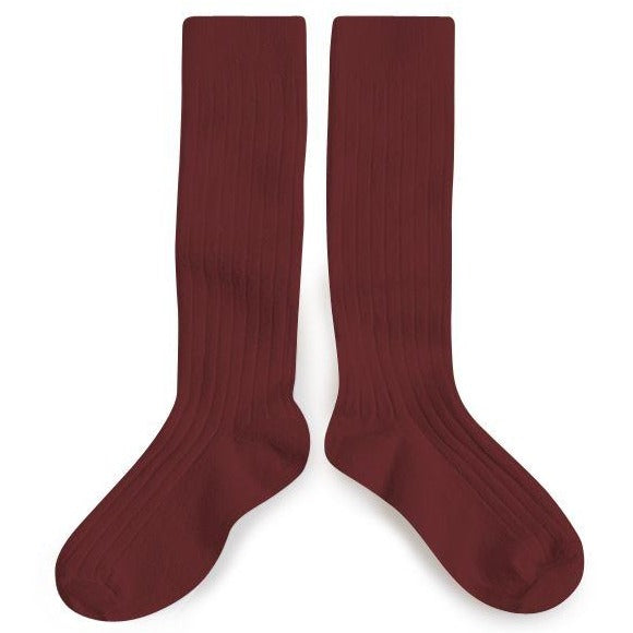 collégien knee highs chataigne