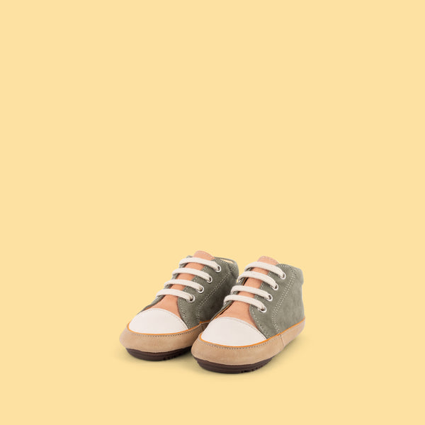 dulis babyshoes peach/green
