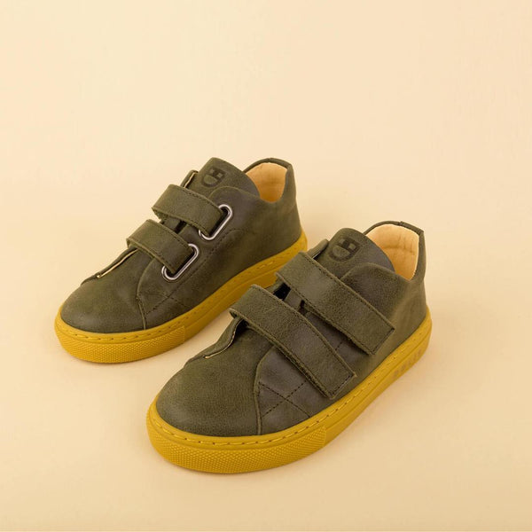 dulis sneaker olive green - little pearls by shoe chou