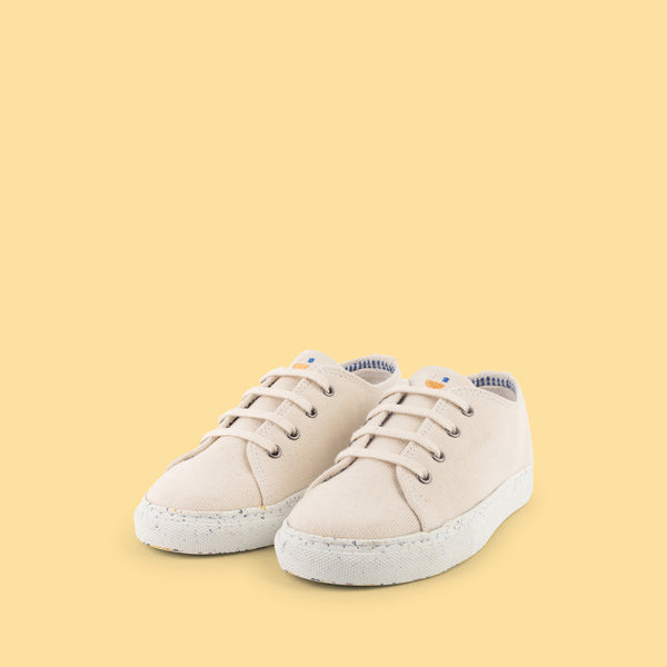 dulis canvas sneaker cream