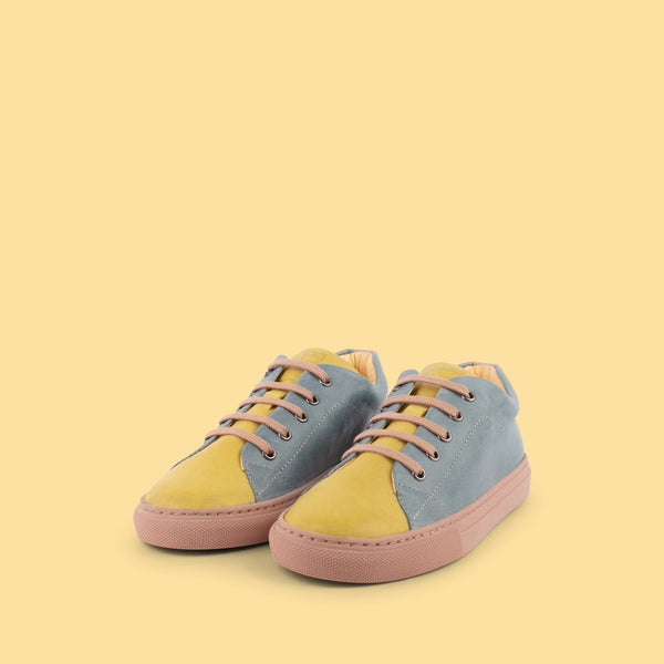 dulis sneaker pale pink/blue/yellow