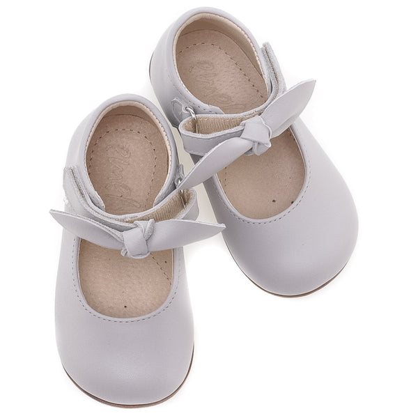 emel beginner ballerine light grey - little pearls by shoe chou