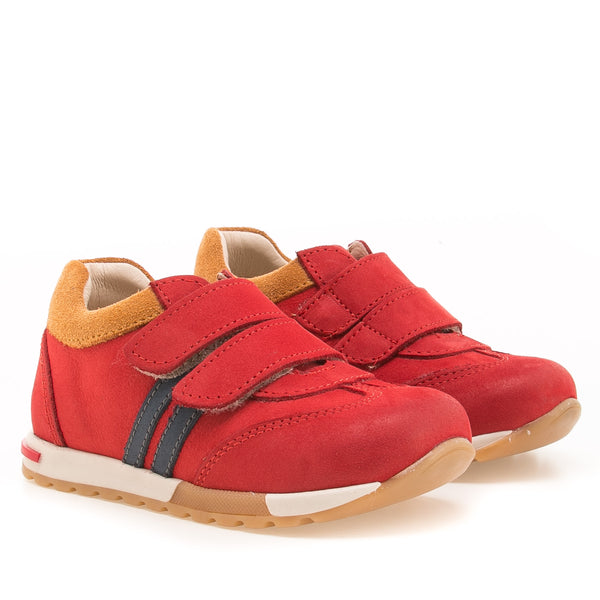 emel sneaker red/mustard - little pearls by shoe chou